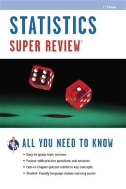 Statistics Super Review, 2nd Ed. (Super Reviews Study Guides) Second 9780738611242
