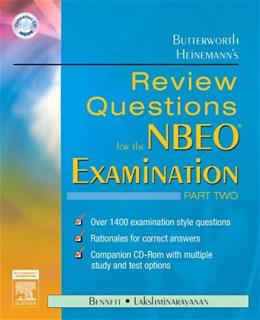 Butterworth Heinemanns Review Questions for the NBEO Examination, by Bennett, Part 2 BK w/CD 9780750675666