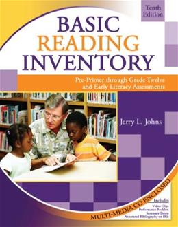 Basic Reading Inventory: Pre-Primer through Grade 12 and Early Literacy Assessments, by Johns, 10th Edition, 2 Book Set 10 PKG 9780757551277
