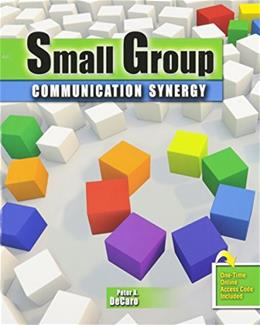 Small Group Communication Synergy, by Decaro PKG 9780757559914