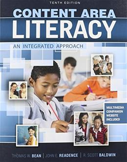 Content Area Literacy: An Integrated Approach 10 9780757588914