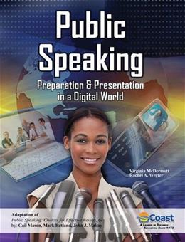Public Speaking: Preparation and Presentation in a Digital World, by McDermott 9780757598463