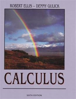 Calculus, by Ellis, 6th Edition 9780759313798