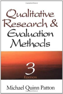Qualitative Research and Evaluation Methods, by Patton, 3rd Edition 9780761919711