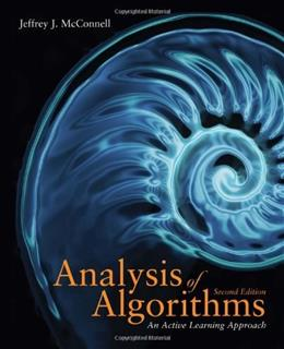 Analysis of Algorithms, by McConnell, 2nd Edition 9780763707828