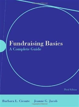 Fundraising Basics: A Complete Guide, by Ciconte, 3rd Edition 3 w/CD 9780763746667