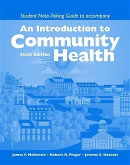An Introduction to Community Health Note-Taking Guide 6 9780763753665