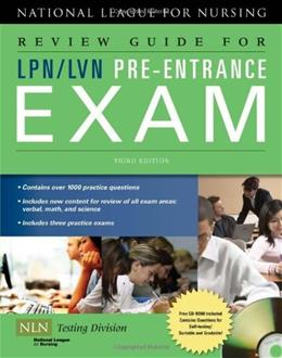 Review Guide for LPN/LVN Pre-Entrance Exam 3 w/CD 9780763762704