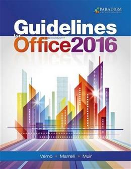 Guidelines for Microsoft Office 2016: Text 9780763867485