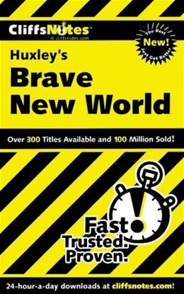 CliffsNotes on Huxleys Brave New World (Cliffsnotes Literature Guides) 1 9780764585838
