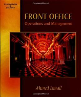 Front Office Operations and Management, by Ismail 9780766823433