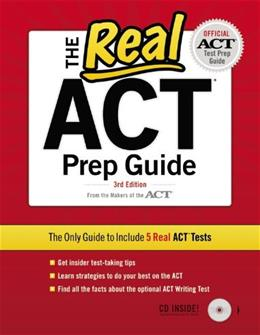 Real ACT, by Act, Inc., 3rd Edition 3 w/CD 9780768934403