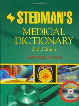 Stedmans Medical Dictionary, by Stedman, 28th Edition 28 w/CD 9780781733908