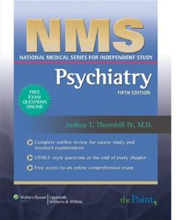 NMS Psychiatry (National Medical Series for Independent Study) 5 PAP/PAS 9780781765145