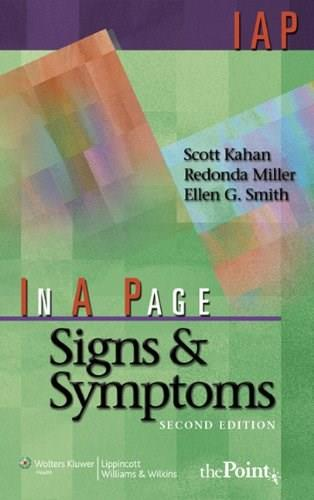 In A Page Signs and Symptoms, by Kahan, 2nd Edition 9780781770439