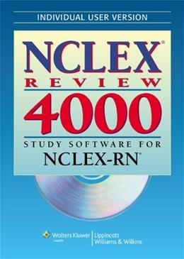 NCLEX 4000 Individual Version, by Springhouse, CD-ROM ONLY 9780781777902