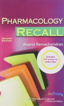 Pharmacology Recall, by Ramachandran, 2nd Edition 2 PKG 9780781787307
