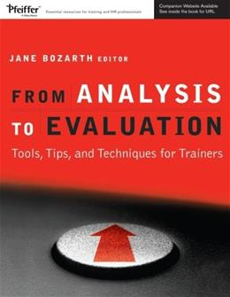 From Analysis to Evaluation: Tools, Tips, and Techniques for Trainers, by Bozarth BK w/CD 9780787982010