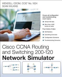 Cisco CCNA Routing and Switching 200-120 Network Simulator, by Odom, DVD-ROM Only 9780789750884