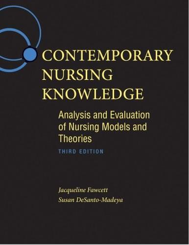 Contemporary Nursing Knowledge: Analysis and Evaluation of Nursing Models and Theories, by Fawcett, 3rd Edition 3 w/CD 9780803627659