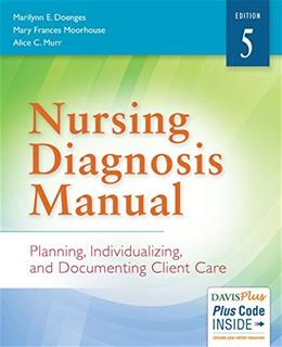 Nursing Diagnosis Manual: Planning, Individualizing, and Documenting Client Care, by Doenges, 5th Edition 5 PKG 9780803644748