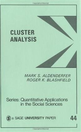 Cluster Analysis, by Aldenderfer 9780803923768