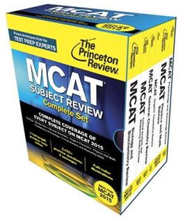 Princeton Review MCAT Subject Review, by Princeton Review, 6 BOOK SET PKG 9780804126328