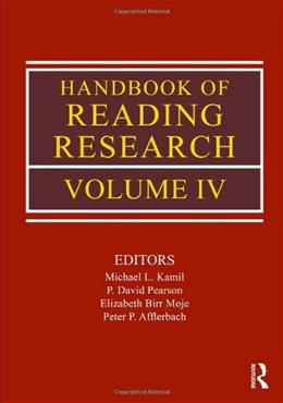 Handbook of Reading Research, by Kamil, Volume 4 9780805853438