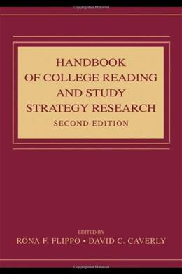Handbook of College Reading and Study Strategy Research, by Flippo, 2nd Edition 9780805860016