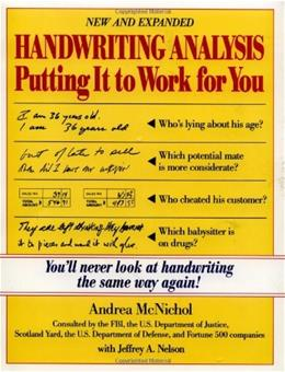 Handwriting Analysis : Putting It to Work for You NEW EXP 9780809235667