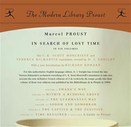 In Search of Lost Time, by Proust, 6 Book Set PKG 9780812969641