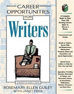 Career Opportunities for Writers 4 9780816041442