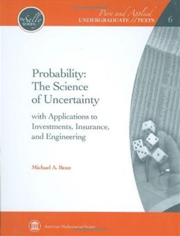 Probability: The Science of Uncertainty, by Bean 9780821847923