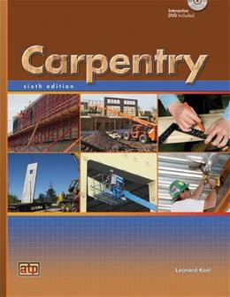 Carpentry, by Koel, 6th Edition 6 w/CD 9780826908094
