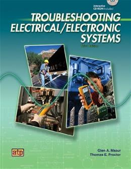 Troubleshooting Electrical Electronic Systems, by Mazur, 3rd Edition 3 w/CD 9780826917911