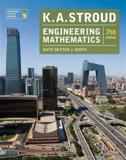 Engineering Mathematics, by Stroud, 7th Edition 9780831134709