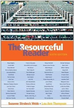 Resourceful Reader, by Webb, 6th Edition 9780838407790