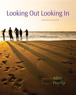 Looking Out, Looking In, by Adler, 14th Edition 9780840028174