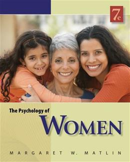 The Psychology of Women (PSY 477 Preparation for Careers in Psychology) 9780840032898
