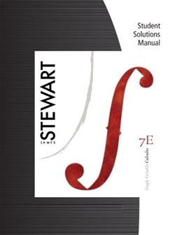 Student Solutions Manual (Chapters 1-11) for Stewarts Single Variable Calculus, 7th 9780840049490