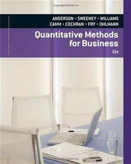 Quantitative Methods for Business (with Printed Access Card) 12 PKG 9780840062338
