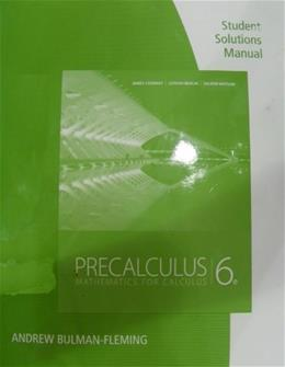 Student Solutions Manual for Stewart/Redlin/Watsons Precalculus: Mathematics for Calculus, 6th 9780840068798