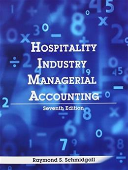 Hospitality Industry Managerial Accounting 7 9780866123594