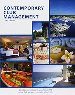 Contemporary Club Management, by Perdue, 3rd Edition 9780866124089