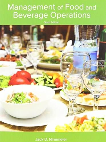 Management of Food and Beverage Operations, by Ninemeier 9780866124775