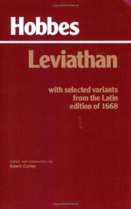 Leviathan with Selected Variants from the Latin Edition of 1668, by Hobbes 9780872201774