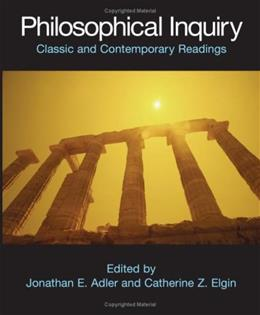 Philosophical Inquiry, by Elgin 9780872208674