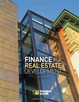 Finance for Real Estate Development, by Long 9780874201574