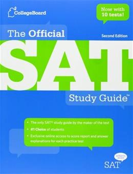 Official SAT Study Guide, by The College Board, 2nd Edition 9780874478525