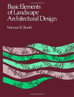 Basic Elements of Landscape Architectural Design, by Booth 9780881334784